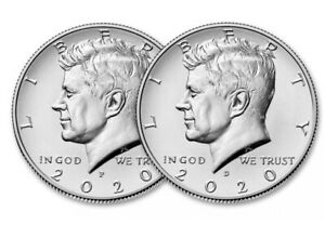 2020 P&D KENNEDY HALF DOLLAR SET TWO COINS SET UNCIRCULATED   PRESALE