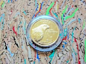 2007 D IDAHO 24K GOLD PLATED QUARTER IN A CAPSULE