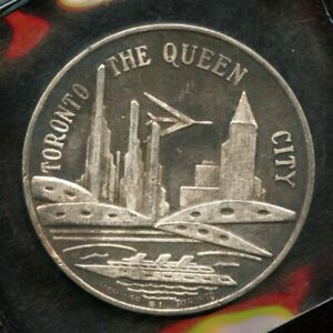 TORONTO THE QUEEN CITY   ARMOURIES 1891 1963 PURE SILVER MEDAL