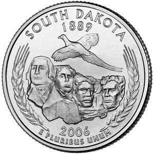 2006 D SOUTH DAKOTA STATE QUARTER   DENVER MINT   BU CONDITION
