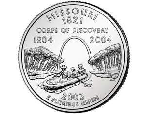 2003 D MISSOURI STATE QUARTER   DENVER MINT   BU CONDITION