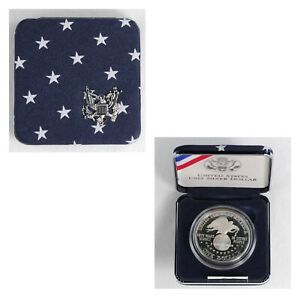 1991 S PROOF USO SILVER DOLLAR US MINT COMMEMORATIVE COIN WITH BOX AND COA 186