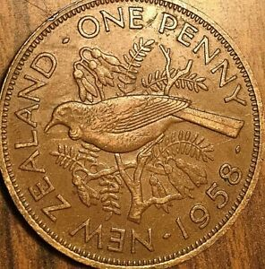 1958 NEW ZEALAND PENNY COIN
