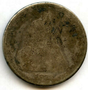 1872 SEATED DOLLAR LOW GRADE