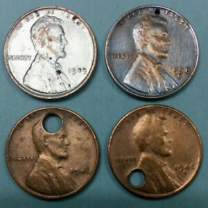 1909 VDB LINCOLN CENT   1938 D   1941 P   1948 S    4 LINCOLN'S FOR 1 LOT PRICE