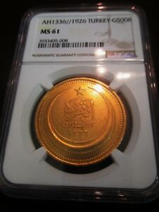 Click now to see the BUY IT NOW Price! TURKEY OTTOMAN GOLD NGC 500 KURUSH MS 61 AH 1336// 1926 LOW MINTAGE