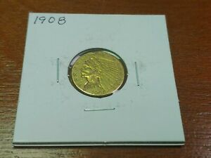1908 $2.5 GOLD INDIAN QUARTER EAGLE JEWELRY GRADE