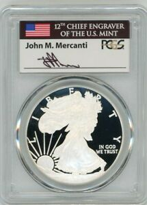 Click now to see the BUY IT NOW Price! 2012 W $1 1OZ PROOF SILVER EAGLE PR70DCAM PCGS JOHN MERCANTI FLAG