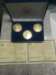 COLLECTORS MINT FIRST AND LAST YEAR DOUBLE EAGLE PROOF SET