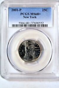 Click now to see the BUY IT NOW Price! 2001 P 25C NEW YORK STATES QUARTER PCGS MS68