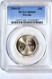Click now to see the BUY IT NOW Price! 2004 D 25C FLORIDA STATES QUARTER PCGS MS68