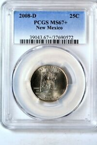 Click now to see the BUY IT NOW Price! 2008 D 25C NEW MEXICO STATES QUARTER PCGS MS67