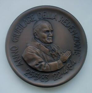 POPE JOHN PAUL II  MARKED POZZI NUMBERED MEDAL 2