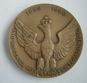 WYSOCKI NOVEMBER UPRISING AGAINST RUSSIA POLISH LITHUANIA COMMONWEALTH MEDAL