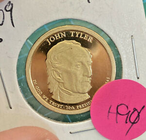 2009 S PRESIDENTIAL $1 PROOF   JOHN TYLER   CHEAP   AS SHOWN    H90