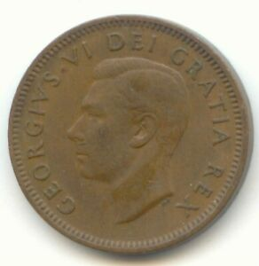 CANADA 1948 CANADIAN PENNY ONE CENT 1C  COIN LOT D