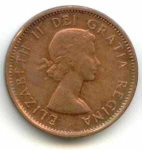 CANADA 1957 CANADIAN PENNY ONE CENT 1C LOTC