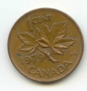 CANADA 1979 CANADIAN PENNY ONE CENT 1C  COIN LOT D