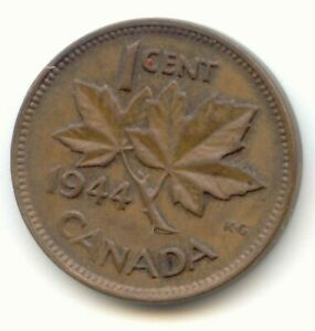 CANADA 1944 CANADIAN PENNY ONE CENT KING GEORGE VI 1C EXACT COIN LOTB
