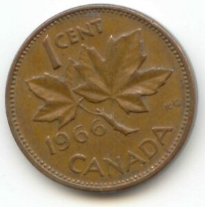 CANADA 1966 PENNY CANADIAN 1 CENT PIECE ONE 1 C 1C EXACT COIN LOTB