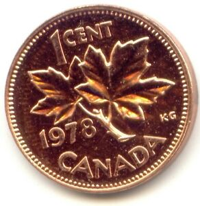 CANADA 1978 PENNY CANADIAN 1 CENT ONE COIN 1C  COIN LOT D