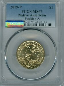 2019 P SACAGAWEA NATIVE AMERICAN DOLLAR MS67 PCGS MAC SPOTLESS POSITION A DEAL