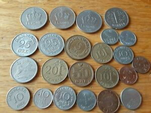 SCANDANAVIA LOT OF 23 COINS