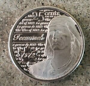 CANADA 25 CENT QUARTER 2012 WAR OF 1812 TECUMSEH FROSTED CIRCULATED