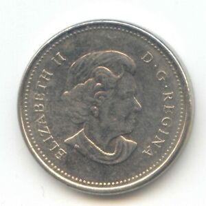 CANADA 2006  BLANK   NO MINT MARK  FIVE CENT CANADIAN NICKEL 5C EXACT COIN