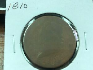 1810 LARGE CENT   CIRCULATED LOW GRADE