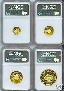 Click now to see the BUY IT NOW Price! 1987 P AUSTRALIA GOLD NUGGET NGC PR70 PF70 4 COINS SET $100 $50 $25 $15
