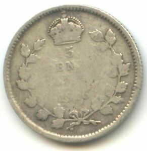 CANADA 1916 FIVE CENT CANADIAN .925 SILVER NICKEL KEY DATE   5C EXACT COIN SHOWN