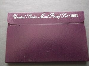 1991 S PROOF SET WITH BOX & COA
