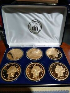 REDUCED  COLLECTORS MINT 24K GOLD DOUBLE EAGLE PROOF COLLECTION BARRY GOLDWATER