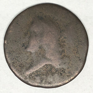 1793 LIBERTY CAP HALF CENT C 2 ROTATED REVERSE