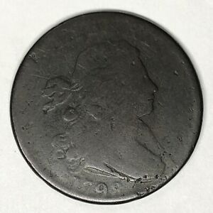 1798 DRAPED BUST LARGE CENT S 185 TERMINAL DIE STATE TDS BENT
