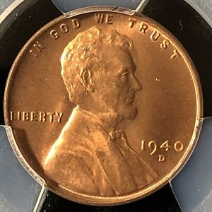 1940 D 1C RD LINCOLN WHEAT ONE CENT  PCGS MS66RD                39000645