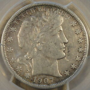 1907 S BARBER HALF DOLLAR 50C PCGS CERTIFIED VF35 NOT THE QUALITY I LIKE TO HAND