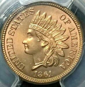 Click now to see the BUY IT NOW Price! 1861 INDIAN CENT PCGS MS66