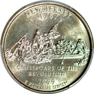 Click now to see the BUY IT NOW Price! 1999 P 25C NEW JERSEY STATE QUARTER PCGS MS68
