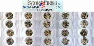 Click now to see the BUY IT NOW Price! COMPLETE SATIN FINISH SP69 PCGS STATE QUARTERS SET  2005 2008 P&D