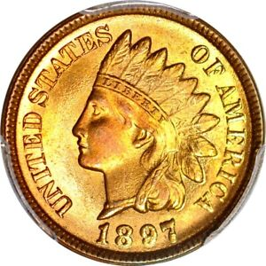 Click now to see the BUY IT NOW Price! 1897 1C INDIAN CENT PCGS MS67RD  PHOTO SEAL