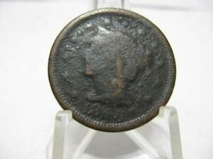 LY  1848 LARGE CENT  CONDITION NFM205