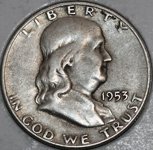 1953 S FRANKLIN HALF DOLLAR 90  SILVER. YOU WILL RECEIVE THE COIN SHOWN.