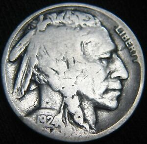 NICE KEY DATE 1924 S BUFFALO NICKEL 5 COMBINED S&H ON MULTIPLE ITEMS GM29MM
