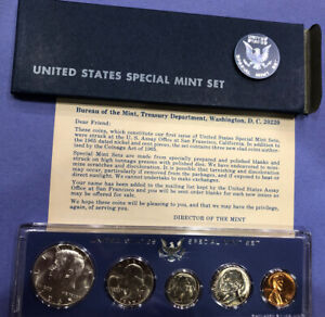 1965 SPECIAL MINT SET SMS IN GENUINE US MINT SET HOLDER BOX SILVER KENNEDY  A
