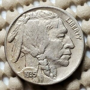 1935 S BUFFALO NICKEL 5 COIN SAN FRANCISCO MINT