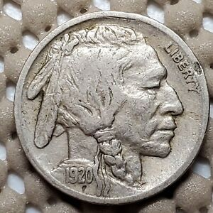 1920 S BUFFALO NICKEL 5 COIN BETTER DATE NICE COIN