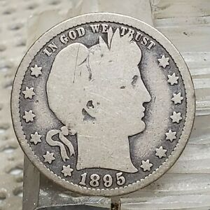 1895 O BARBER 25 SILVER QUARTER COIN GREAT ORIGINAL PATINA