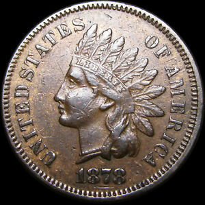 1878 INDIAN CENT PENNY      NICE DETAILS       D609